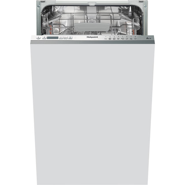 Hotpoint Ultima Fully Integrated Slimline Dishwasher - Silver Control Panel with Fixed Door Fixing Kit - A++ Rated