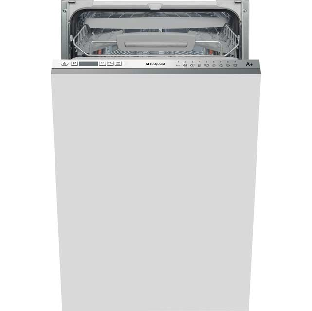 Hotpoint Fully Integrated Slimline Dishwasher - Stainless Steel Control Panel with Fixed Door Fixing Kit - A++ Rated