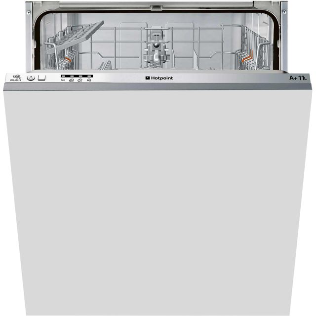 Hotpoint Aquarius Fully Integrated Standard Dishwasher - Grey with Fixed Door Fixing Kit - A+ Rated