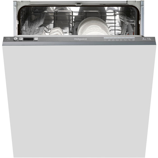Hotpoint Ultima LTF8B019UK Fully Integrated Standard Dishwasher - Graphite Control Panel with Fixed Door Fixing Kit - A+ Rated - LTF8B019UK_GH - 1