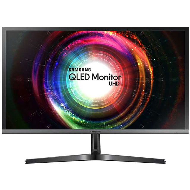 "Samsung U28H750 Ultra HD 28"" 60Hz Monitor with AMD FreeSync - Black - LU28H750UQUXEN - 1"