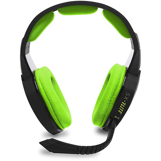 Stealth SX-ELITE Gaming Headset - Black / Green