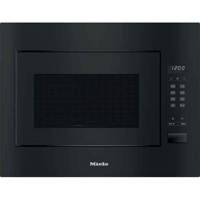 Miele M2240SC Built In Microwave With Grill - Black - M2240SC_BK - 1