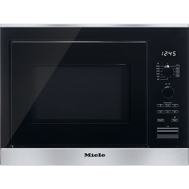 Miele ContourLine Narrow Width Built In Microwave With Grill - Clean Steel