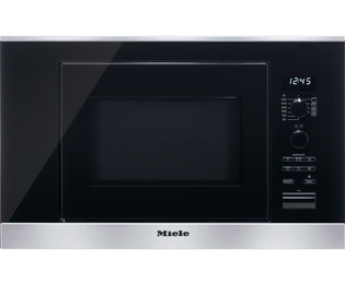 Miele ContourLine M6032SC Built In Microwave With Grill - Clean Steel