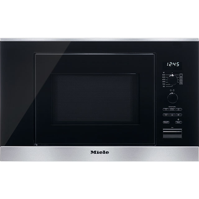 Miele ContourLine M6032SC Built In Microwave With Grill - Clean Steel - M6032SC_CS - 1