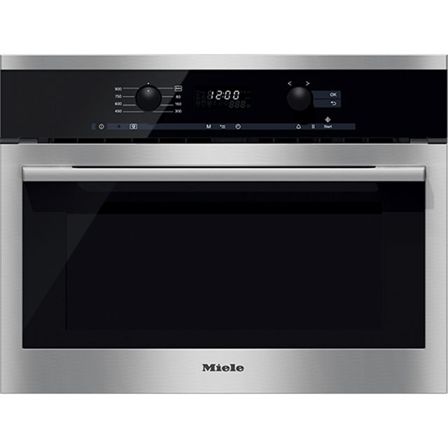 Miele ContourLine M6160TC Built In Microwave - Clean Steel - M6160TC_CS - 1