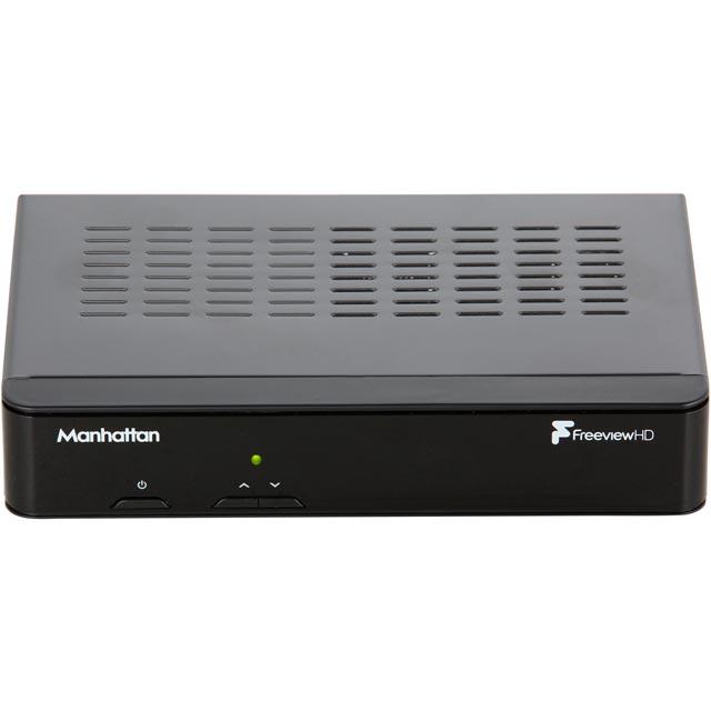 Manhattan PLAZAHD-T2 Freeview Box in Black
