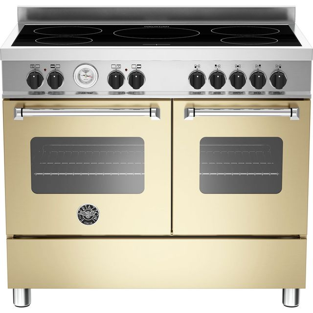 Image of Bertazzoni Master Series MAS100-5I-MFE-D-CRE 100cm Electric Range Cooker with Induction Hob - Cream - A/A Rated