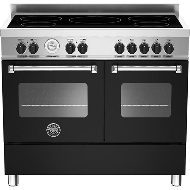 Bertazzoni Master Series MAS100-5I-MFE-D-NEE 100cm Electric Range Cooker with Induction Hob - Matt Black - A/A Rated - MAS100-5I-MFE-D-NEE_MB - 1