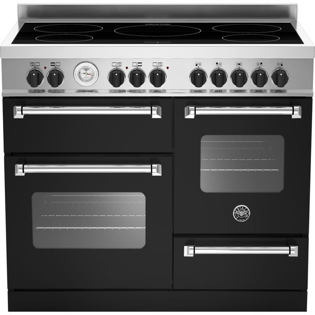 Bertazzoni Master Series MAS100-5I-MFE-T-NEE 100cm Electric Range Cooker with Induction Hob - Matte Black - A/A Rated - MAS100-5I-MFE-T-NEE_MB - 1