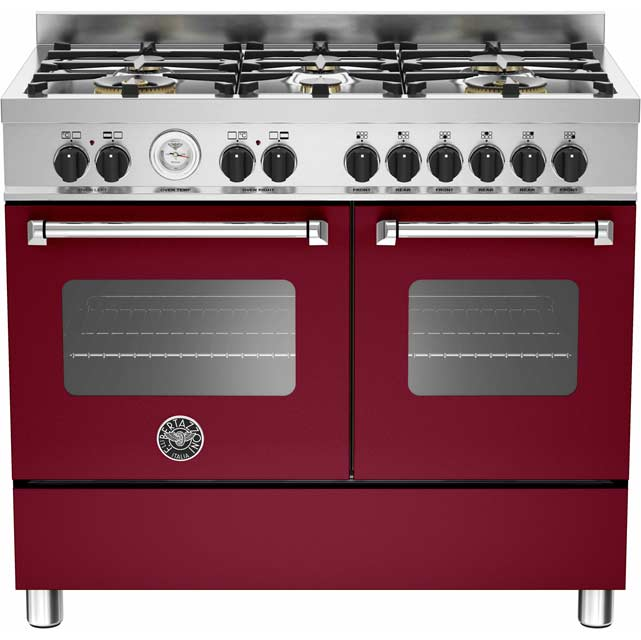 Bertazzoni Master Series 100cm Dual Fuel Range Cooker - Burgundy - A/A Rated