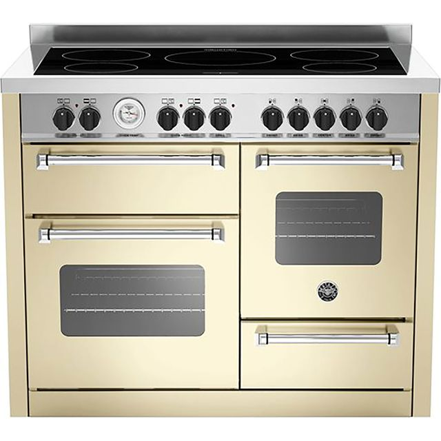 Bertazzoni Master Series MAS110-5I-MFE-T-TCRE 110cm Electric Range Cooker with Induction Hob - Cream - A/A Rated - MAS110-5I-MFE-T-TCRE_MCR - 1