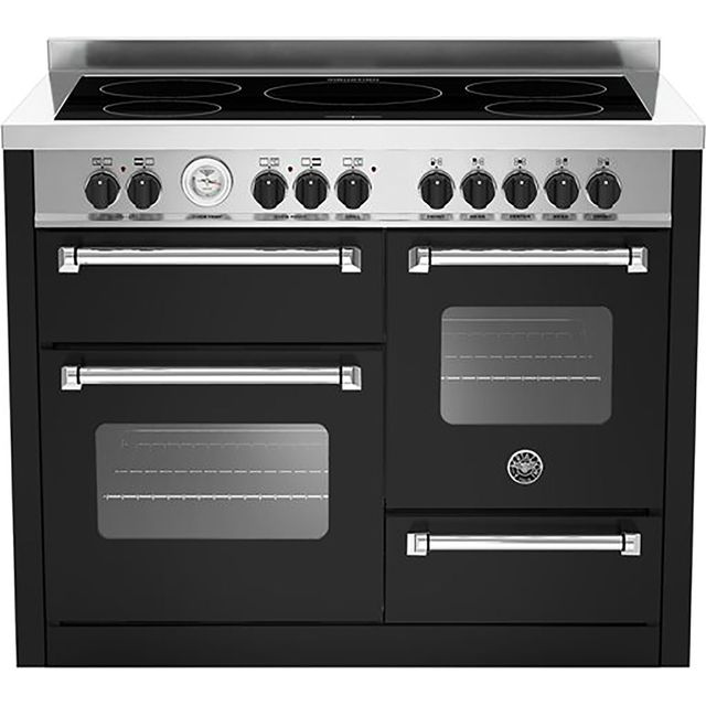 Bertazzoni Master Series MAS110-5I-MFE-T-TNEE 110cm Electric Range Cooker with Induction Hob - Matt Black - A/A Rated - MAS110-5I-MFE-T-TNEE_MB - 1
