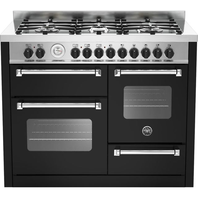 Bertazzoni Master Series MAS110-6-MFE-T-NEE 110cm Dual Fuel Range Cooker - Matt Black - A/A Rated