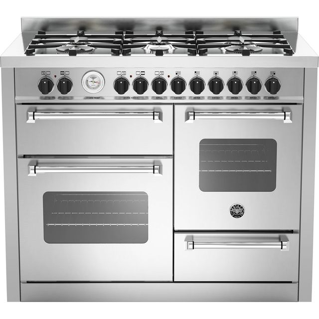 Bertazzoni Master Series 110cm Dual Fuel Range Cooker - Stainless Steel - A/A Rated