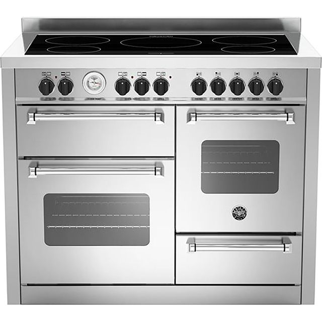 Bertazzoni Master Series MAS110-5I-MFE-T-TXE 110cm Electric Range Cooker with Induction Hob - Stainless Steel - A/A Rated - MAS110-5I-MFE-T-TXE_SS - 1