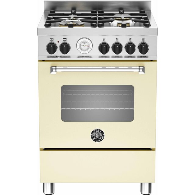 Bertazzoni Master Series 60cm Dual Fuel Cooker - Cream - A Rated