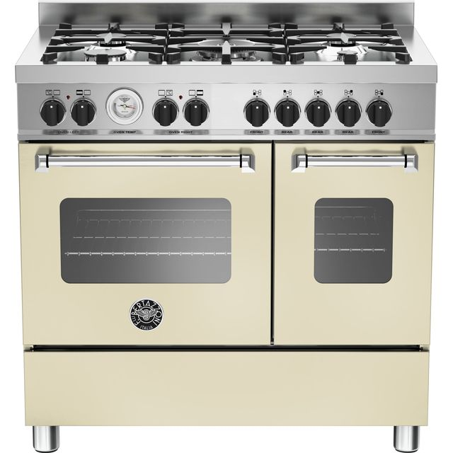 Bertazzoni Master Series 90cm Dual Fuel Range Cooker - Cream - A+/A Rated