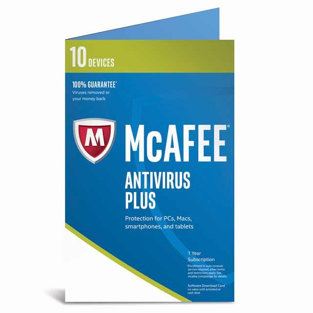 McAfee AntiVirus 2017 MAV17U010RKA Software