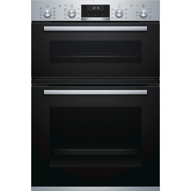 Bosch Serie 6 MBA5350S0B Built In Electric Double Oven - Stainless Steel - MBA5350S0B_SS - 1
