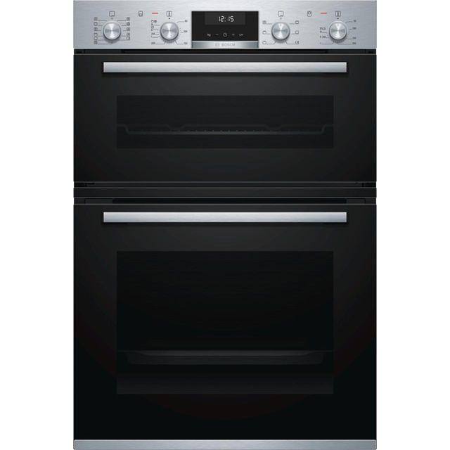 Bosch Serie 6 MBA5575S0B Built In Double Oven - Stainless Steel - A/B Rated - MBA5575S0B_SS - 1