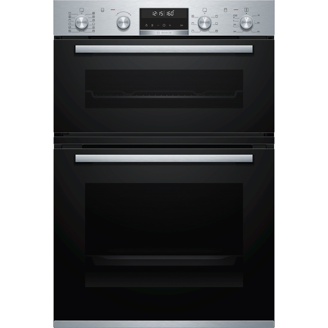 Bosch Serie 6 MBA5785S0B Built In Electric Double Oven - Stainless Steel - MBA5785S0B_SS - 1