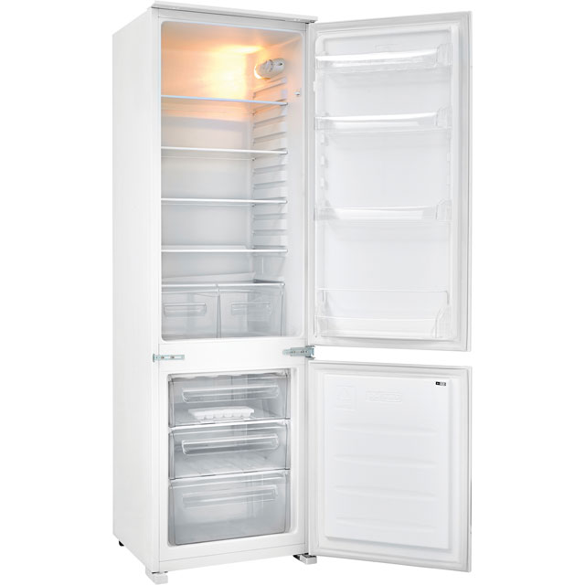 Fridgemaster MBC55275 Integrated 70/30 Fridge Freezer with Sliding Door Fixing Kit - White - A+ Rated - MBC55275_WH - 1