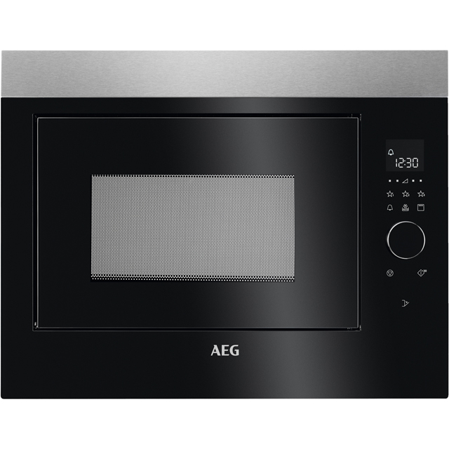 AEG MBE2658DEM Built In Microwave With Grill - Black - MBE2658DEM_BK - 1
