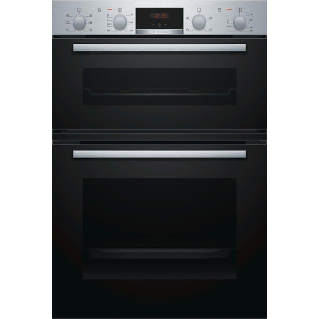 Bosch Serie 2 MBS133BR0B Built In Electric Double Oven - Stainless Steel - MBS133BR0B_SS - 1