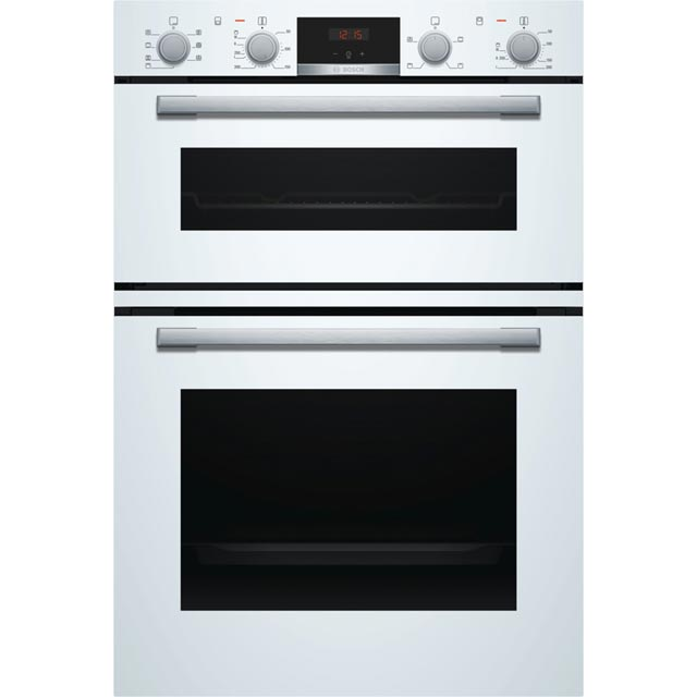 Bosch Serie 4 MBS533BW0B Built In Double Oven - White - A/B Rated - MBS533BW0B_WH - 1