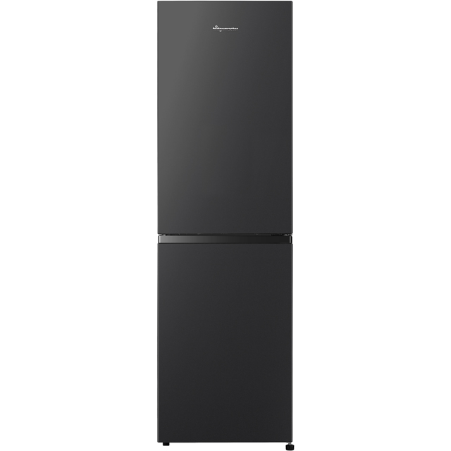 Fridgemaster MC55251MB 50/50 Frost Free Fridge Freezer - Black - A+ Rated Best Price, Cheapest Prices