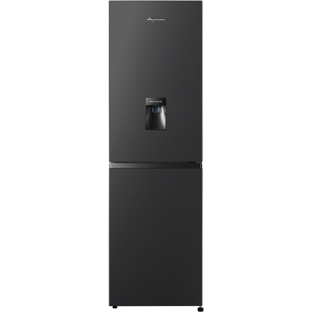 Fridgemaster MC55251MDB 50/50 Frost Free Fridge Freezer - Black - A+ Rated Best Price, Cheapest Prices