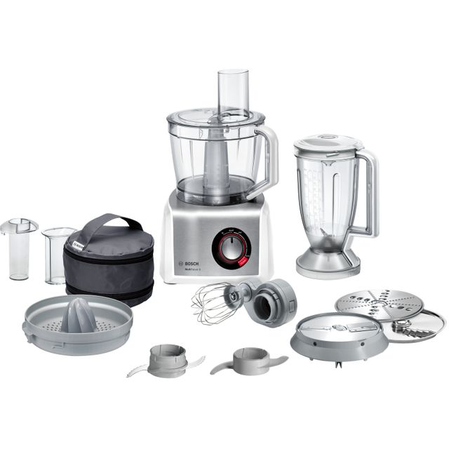 Bosch MC812S734G With 10 Accessories - White / Stainless Steel