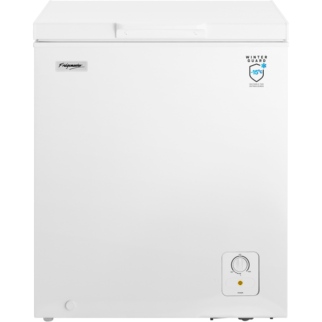 Fridgemaster MCF139 Free Standing Chest Freezer in White