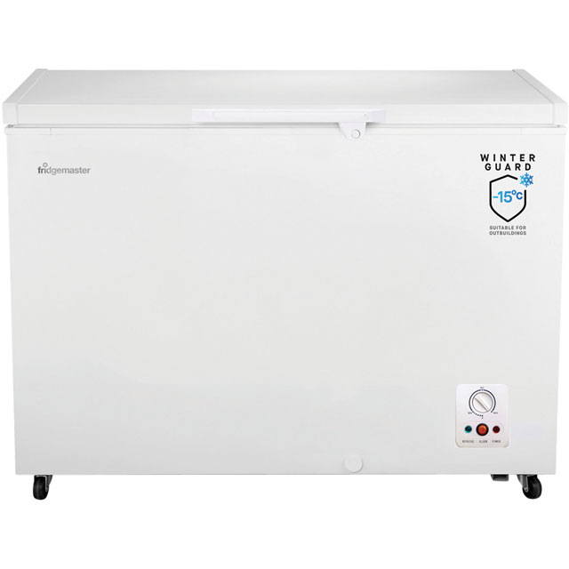 Fridgemaster MCF306 Chest Freezer - White - A+ Rated - MCF306_WH - 1