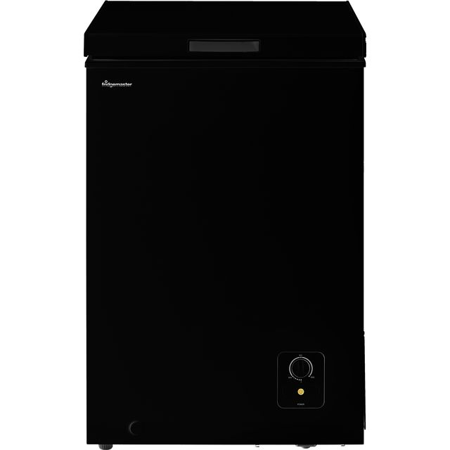 Fridgemaster MCF96B Chest Freezer - Black - A+ Rated