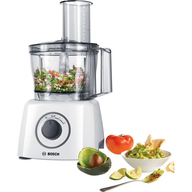 Bosch MultiTalent 3 MCM3100WGB 2.3 Litre Food Processor With 9 Accessories - White
