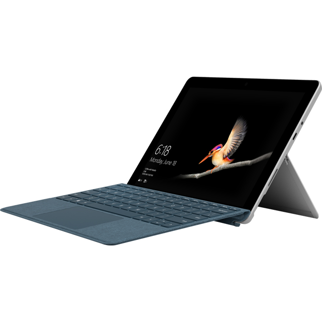 "Microsoft Surface Go 10"" 2-in-1 Laptop Includes Cobalt Blue Keyboard Cover [2018] - Silver / Blue - MCZ-00002BUNBLU - 1"