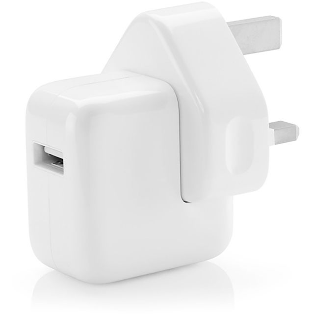 Apple 12W USB Power Adapter for iPhone 5 and up, iPad, iPod Shuffle 4th Gen, iPod Touch 5th Gen and iPod Nano 7th Gen - White - MD836B/B - 1