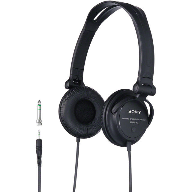 Sony MDRV150 On-Ear Headphones - Black - MDRV150.CE7 - 1