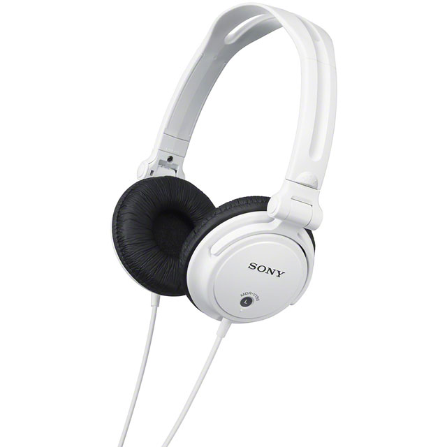 Sony MDRV150 On-Ear Headphones - White - MDRV150W.AE - 1