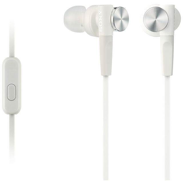 Sony XB50AP In-Ear Headphones - White - MDRXB50APW.CE7 - 1