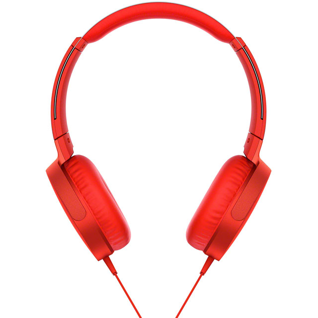 Sony MDR-XB550AP On-Ear Headphones - Red - MDRXB550APR.CE7 - 1