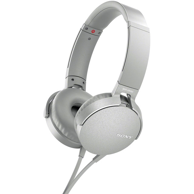 Sony MDR-XB550AP On-Ear Wired Headphones - White - MDRXB550APW.CE7 - 1