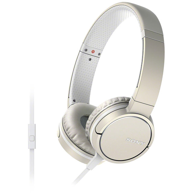 Sony MDRZX660AP On-Ear Headphones - Cream - MDRZX660APC.CE7 - 1