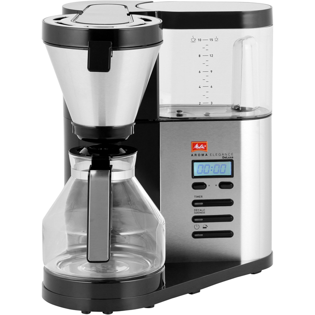 Melitta AromaElegance® Deluxe 6759689 Filter Coffee Machine with Timer - Stainless Steel - 6759689_SS - 1