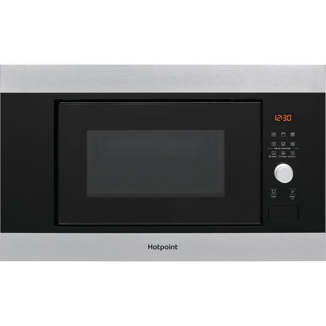 Hotpoint MF20GIXH Built In Microwave With Grill - Stainless Steel Effect - MF20GIXH_SSE - 1