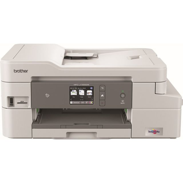 Image of Brother MFCJ1300DW All In Box Inkjet Printer - White