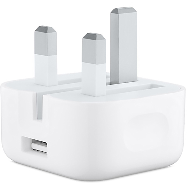 Apple 5W USB Power Adapter with Folding Pins for iPhone 5 and up, iPad mini 2 to 4, Ipod Nano, Shuffle and Touch - White - MGRL2B/A - 1